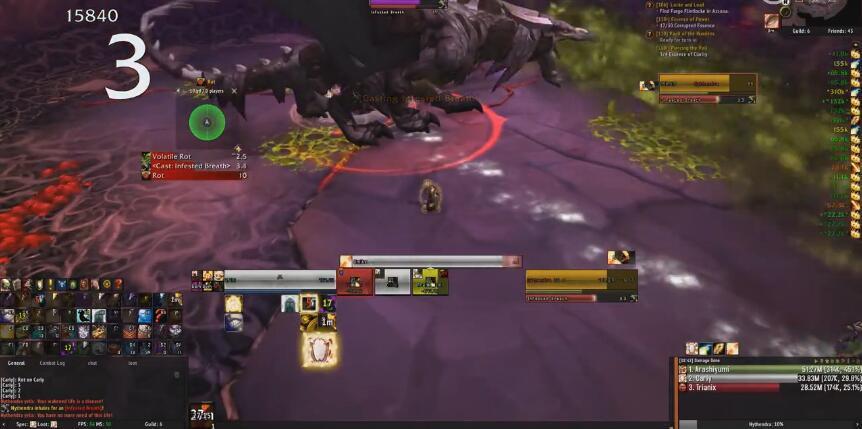 《魔兽世界》三人击杀普通模式翡翠梦魇老一