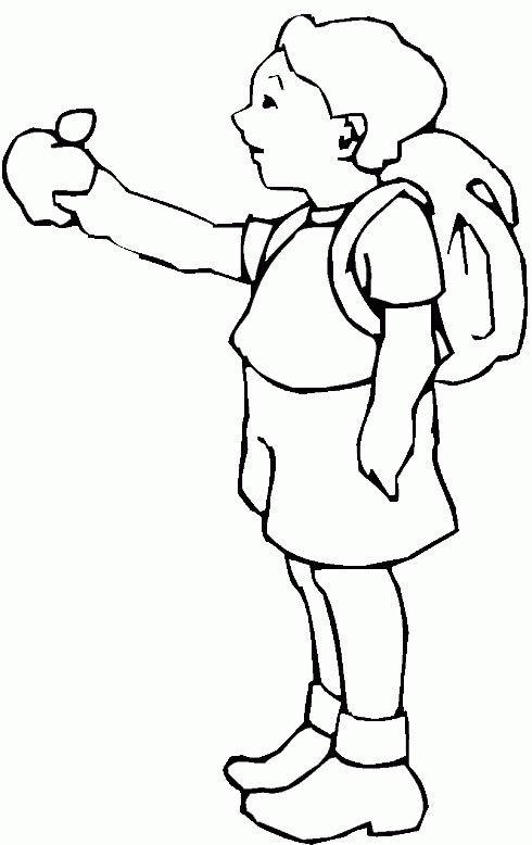 小学生背着书包的简笔画怎么画
