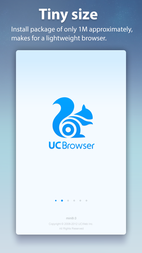 UC Browser Mini for Android截图1