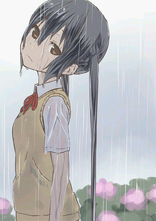 动漫中一个女生孤独背影的图片