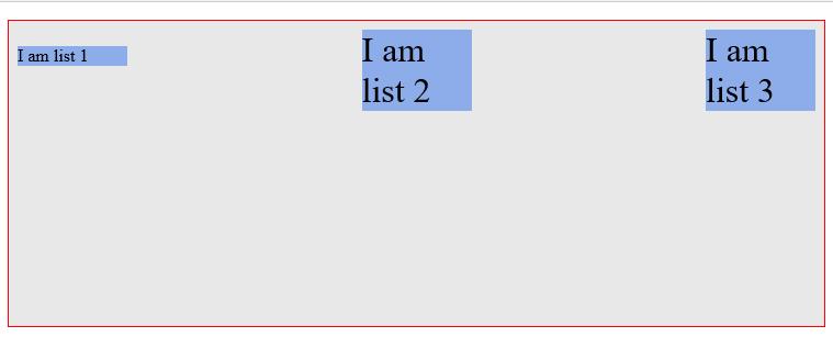 align-items: baseline