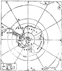 读南极洲图 回答 1 南极洲四周被大洋环绕,A是 洋,A西部是 洋. 2 考察站C在B的 方向. 3 南极地区的气候特点是
