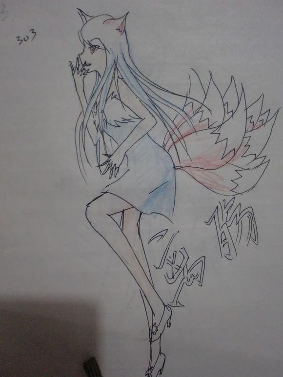 小学生手绘斗罗大陆动漫人物,小编真的好想给她点个赞