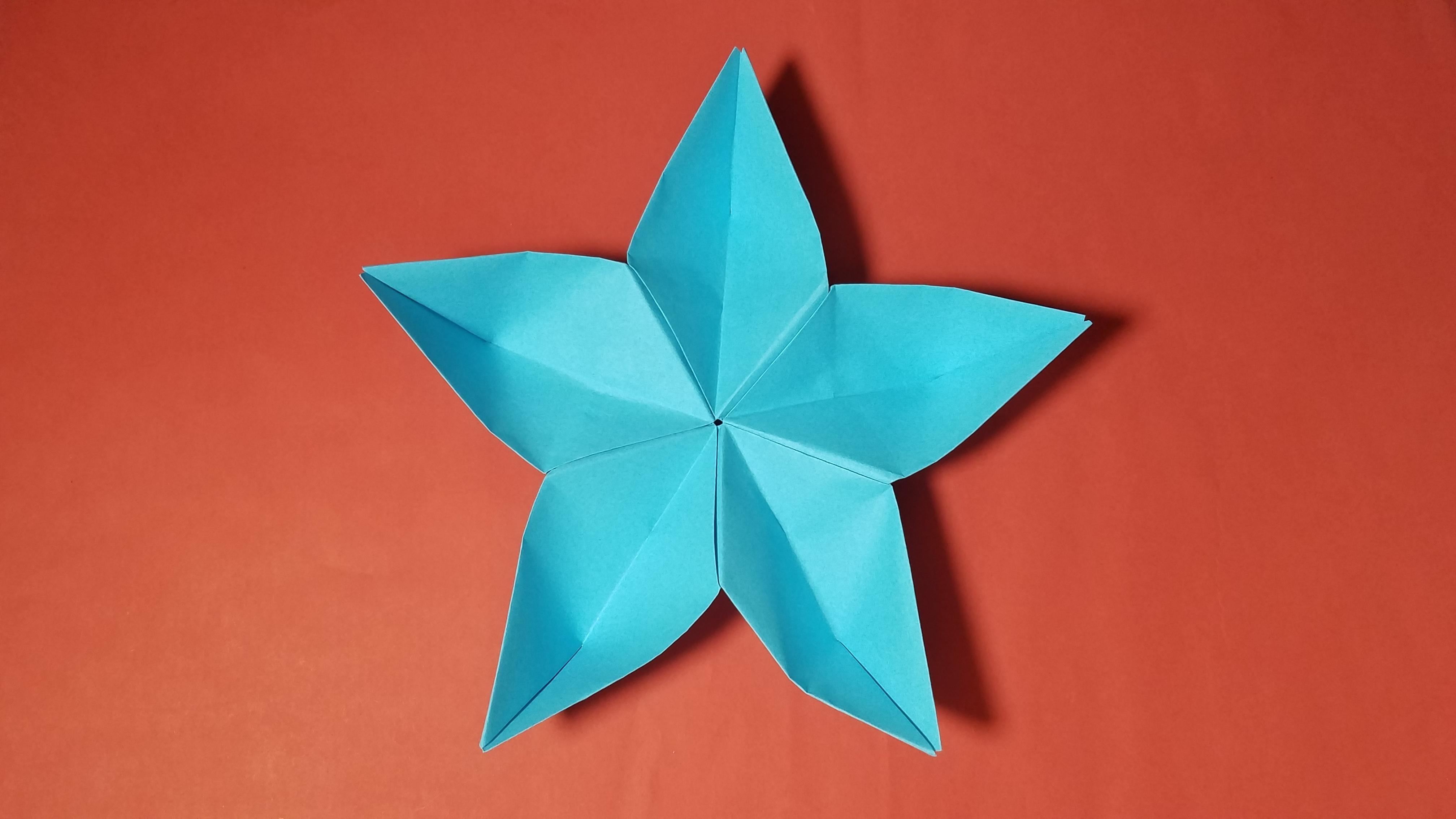 折纸王子教你折纸五星花 儿童折纸大全