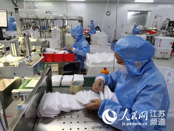 干部驻厂协调南通建立联动机制助力企业转产防疫物资