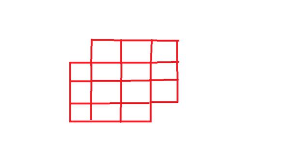 用火柴摆正方形21个,需要多少根火柴?