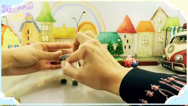 白白侠魔法粘土:小猪佩奇和小马宝莉银甲闪闪 玩具 视频 亲子 游
