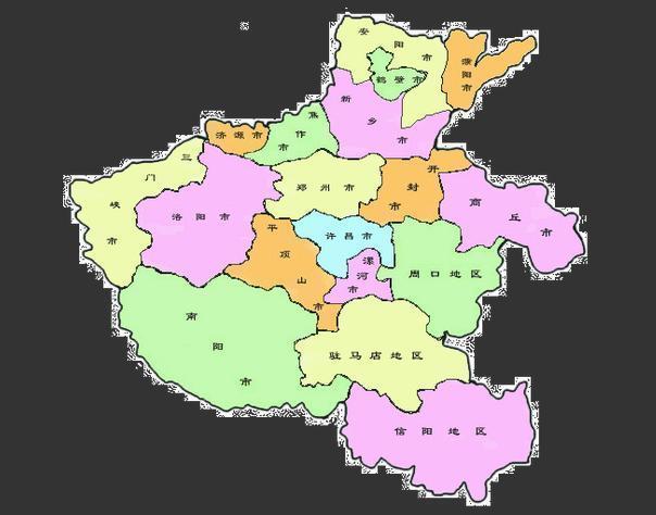 河南省的地图像什么