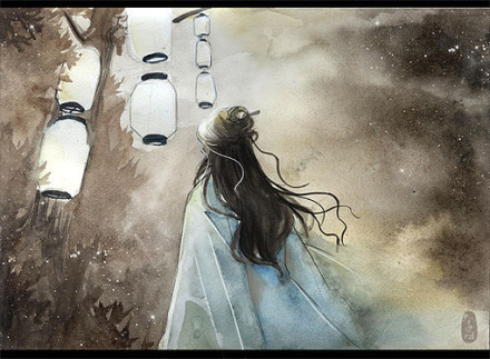 求古风图片 一个女的的背影 很孤独颓废那种
