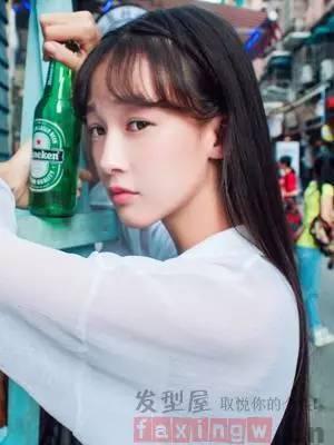 71韩国流行高中女生发型02校花范儿发型清纯养眼
