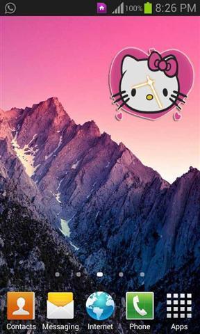 《 凯蒂猫时钟小部件 》截图欣赏