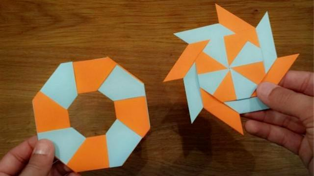 折纸教程:大神教你折变形飞镖
