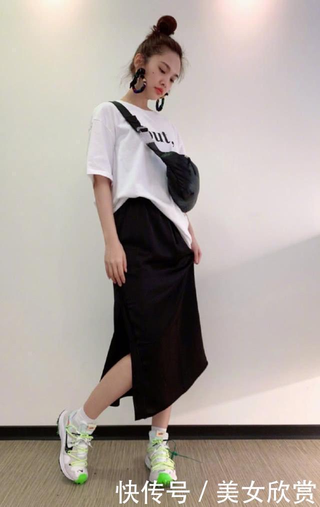 杨丞琳是怎么做到,身高1米62却有奚梦瑶的腿?看到裙子懂了