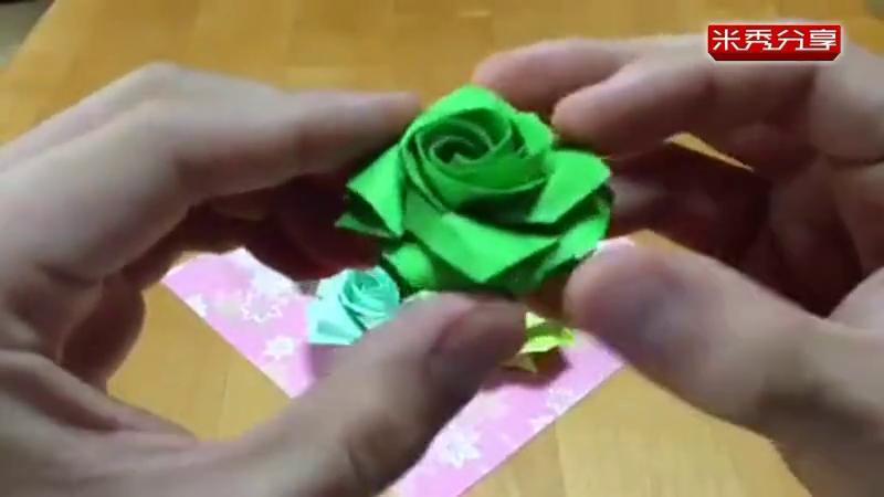 [大全]折纸玫瑰花步骤图解:手工折纸玫瑰花图解:折纸