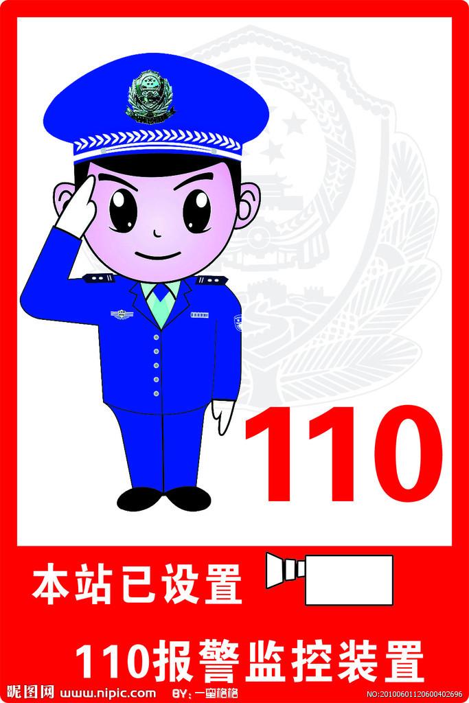119报警卡通