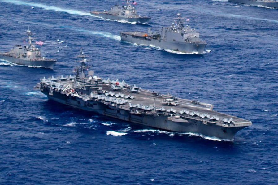美军在中国周边秀超级舰队 最大规模军演撞期中俄 - 周公乐 - xinhua8848 的博客