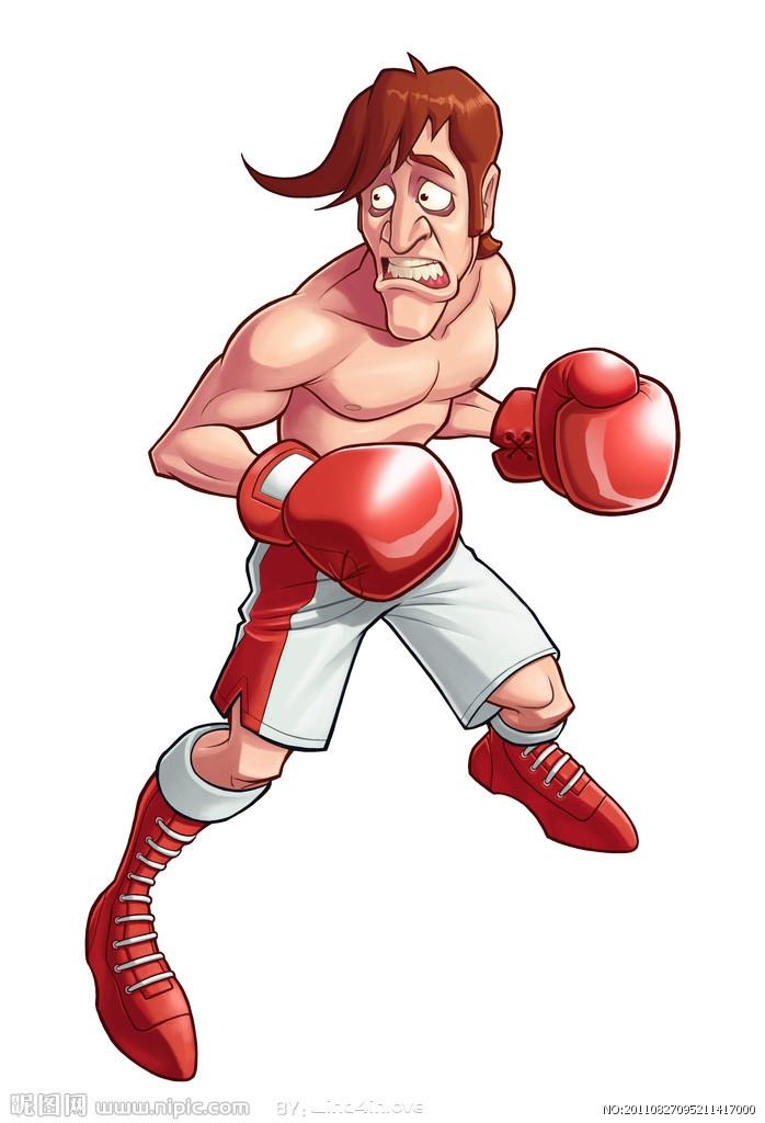 卡通小朋友拳击