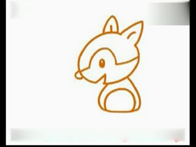 幼儿画画教程 儿童画基础入门 简笔画教程 -松鼠