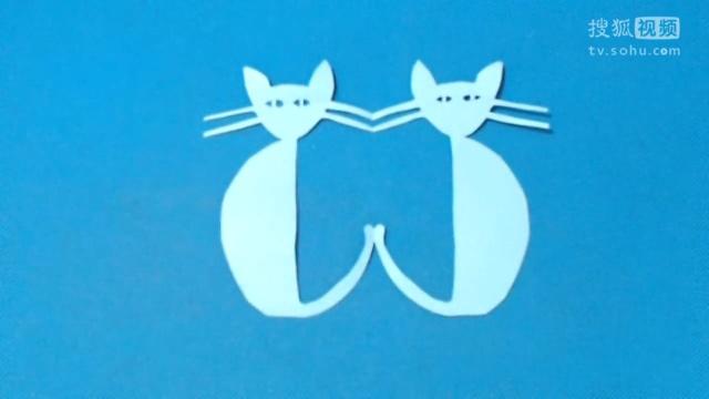 剪纸小课堂147:猫咪团花 儿童剪纸教程视频大全 亲子手工diy教学 .