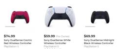 PS5 DualSense手柄新配色售价公布:午夜黑版售70美元、星尘红版售75美元