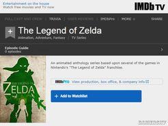 IMDb现《塞尔达传说》动画 基于游戏、每部一个画风