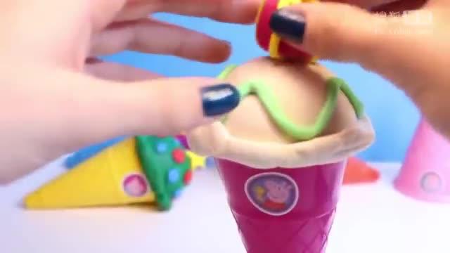 佩佩猪圣诞节手工制作橡皮泥甜点冰淇淋