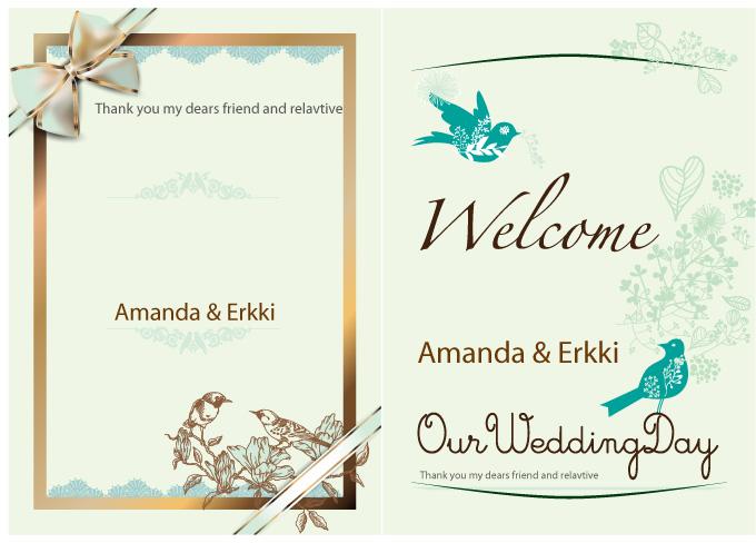 英文版婚礼邀请函图片