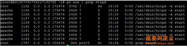 执行reboot重启操作系统后可发现apache已经自动启动并监听在了80端口