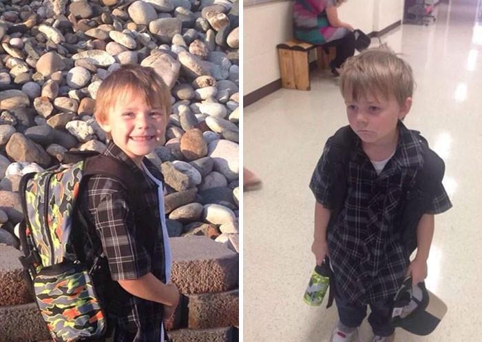 可怜的娃:美国孩子上学之前和上学之后对比照 - 真光 - 真光 的博客