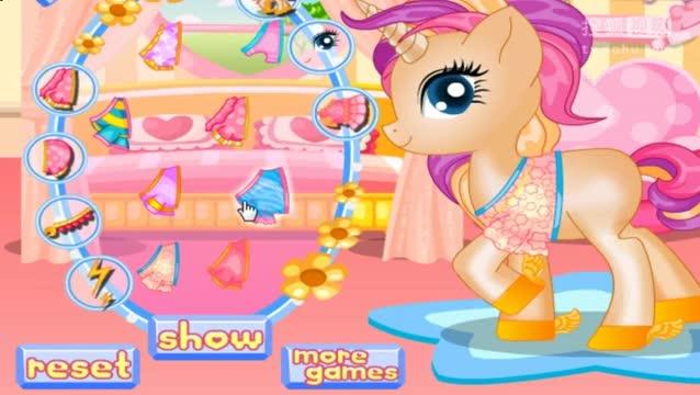 小马宝莉之小马国女孩小游戏 照顾可爱的小马公主 卤肉解说