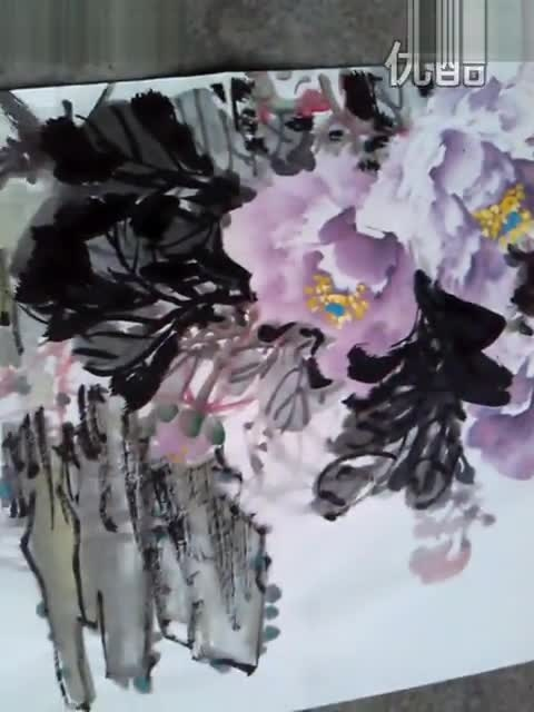 李慈林老师 画写意牡丹