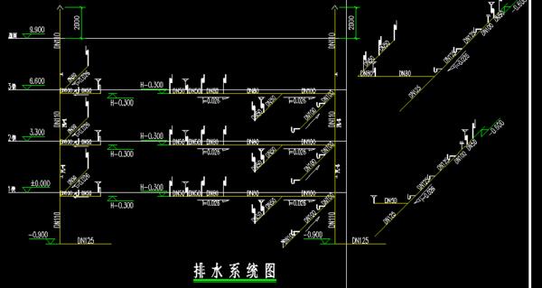 看给排水的图纸电器?_360问答移升降图纸系统车库横图片