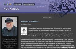 《权力的游戏》作者乔治马丁发文悼念斯坦李:对我影响巨大