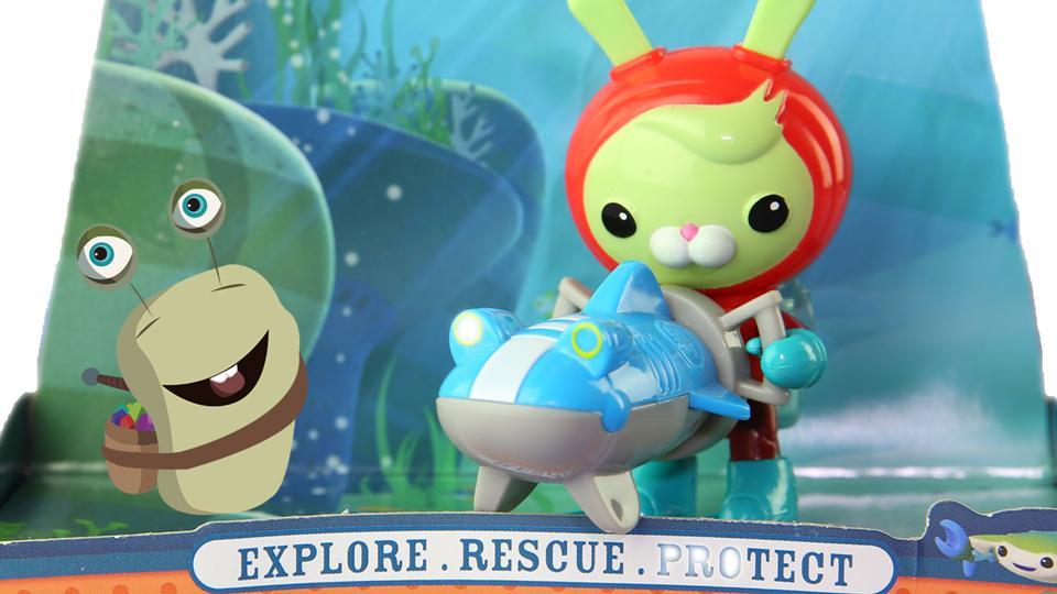 白白侠玩具秀:【海底小纵队】突突兔和摩托艇