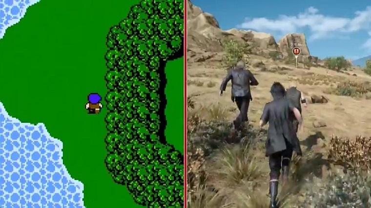 《最终幻想15》和《最终幻想1》对比