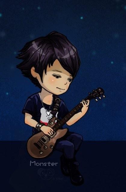 男生弹吉他卡通头像