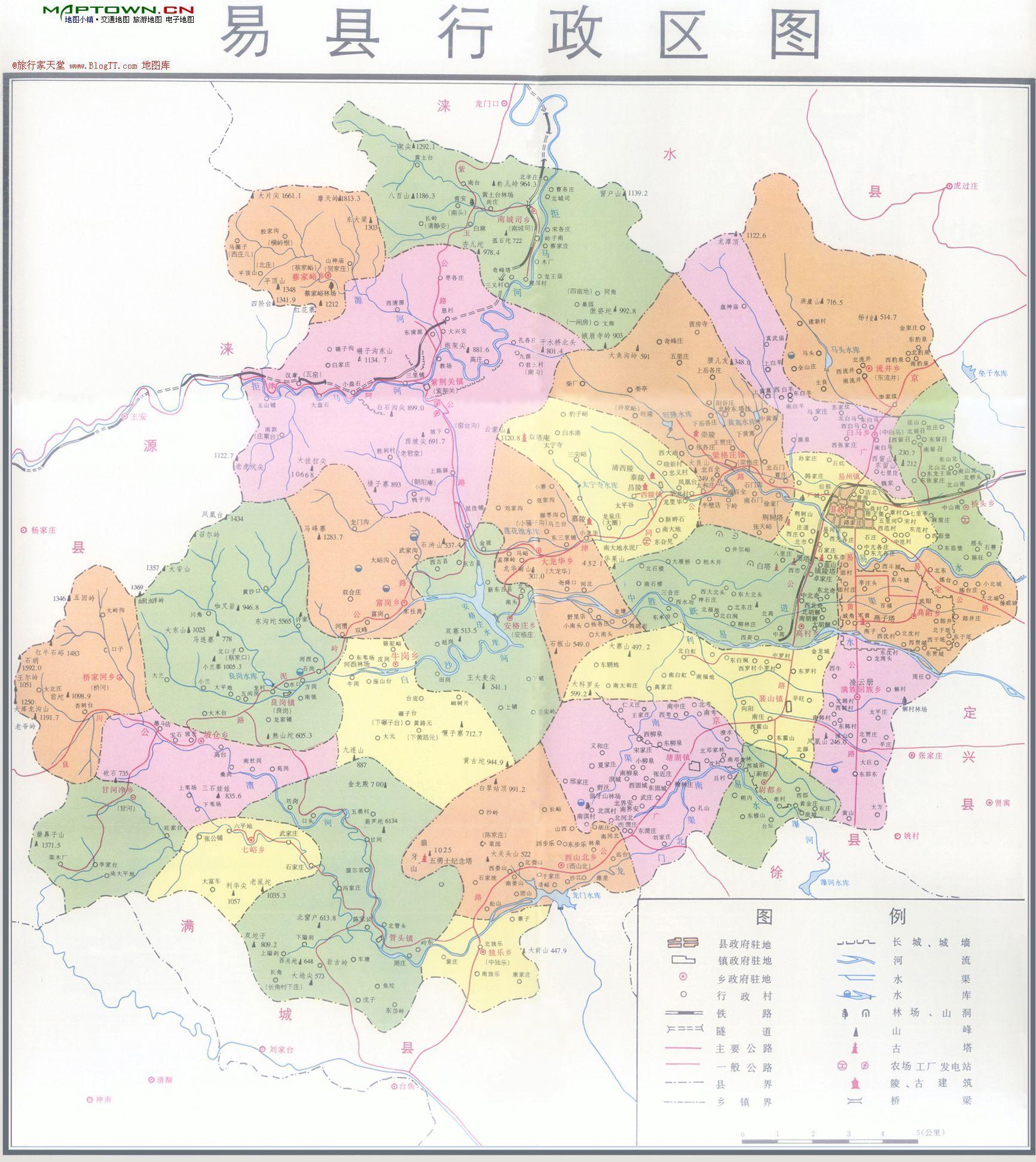 易县行政区图;; 易州国家森林公园位于河北省保定市-京南清西陵 地