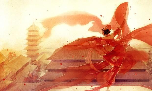 古风唯美动漫,最好要红色系的,反正唯美的都要如下图