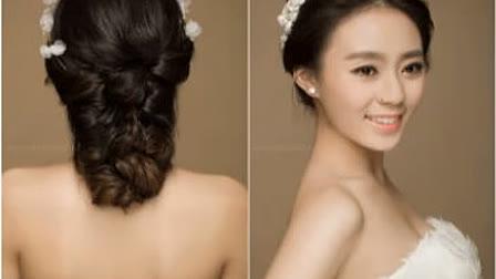 韩系新娘盘发发型视频教程 韩式盘发图片