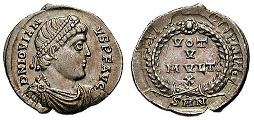 刻有约维安头像之罗马帝国硬币