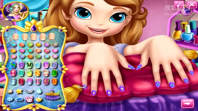 小公主苏菲亚小游戏之苏菲亚做美甲