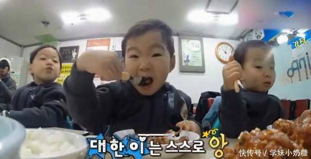 韩国三胞胎,爸爸宝宝风靡影帝红,儿子没有中睡觉表情了搞笑图片的图片