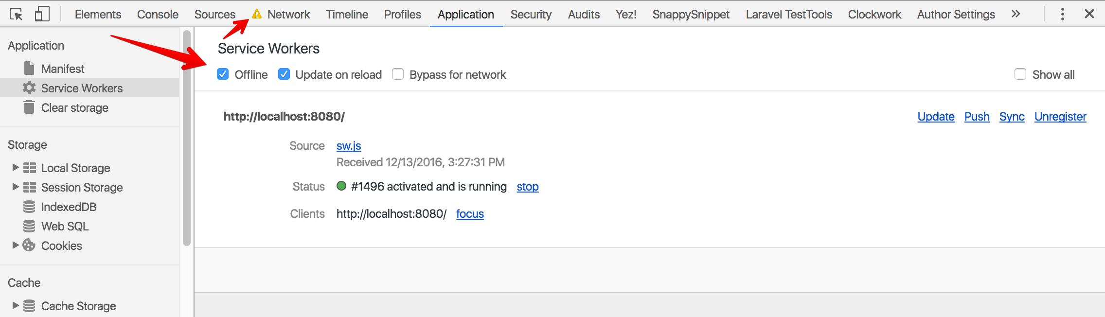 Offline-Network Tab