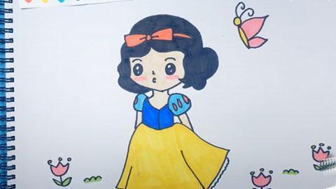 白雪公主的简笔画教程