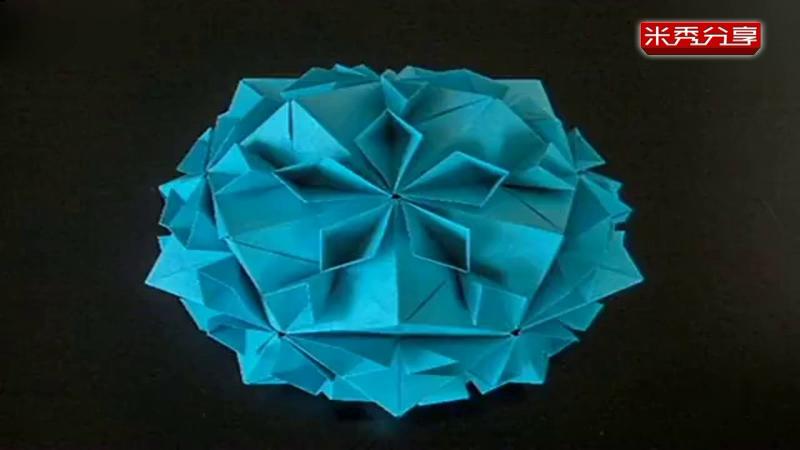 折纸大全简单的图解 樱花盛开花球的折法