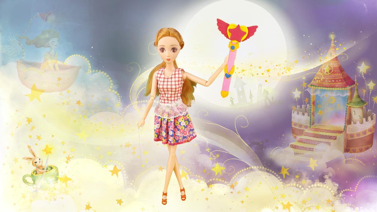 芭比娃娃手工diy公主玩具套装 巴拉拉小魔仙美琪魔法棒超轻粘土.