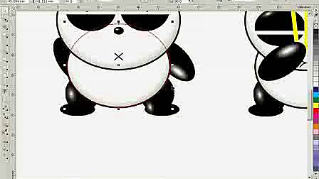 cdr排版cdr广告设计 cdr 实例教程 熊猫烧香卡通制作