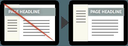 Best Practice #7 - Constrain Headlines to Respective Sections