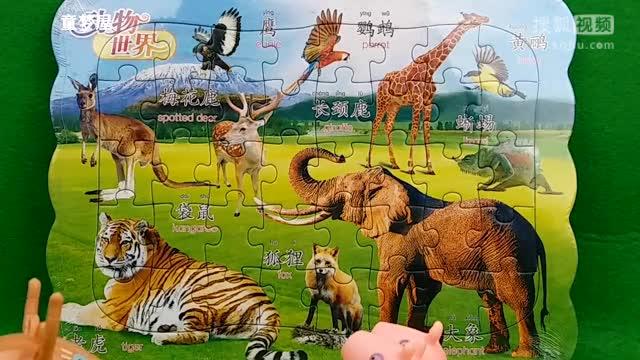 羚羊老师给小猪佩奇乔治弟弟介绍动物世界里面的动物