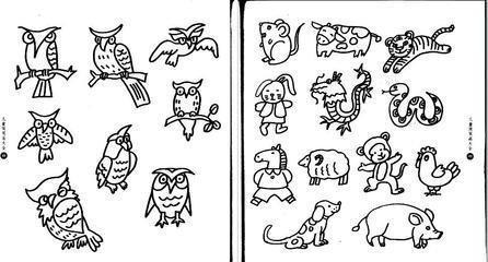 12生肖的简笔画(适合小学6年级的)不要太难